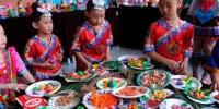 南宁小学生用彩泥制作壮乡特色美食 - 广西新闻